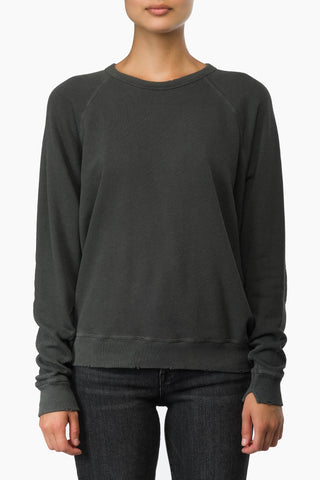 The Great The College Sweatshirt washed blk
