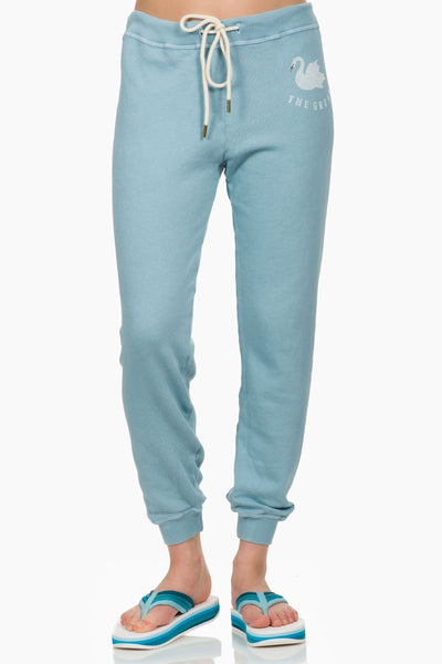 The Great The Cropped Sweatpant pale blue
