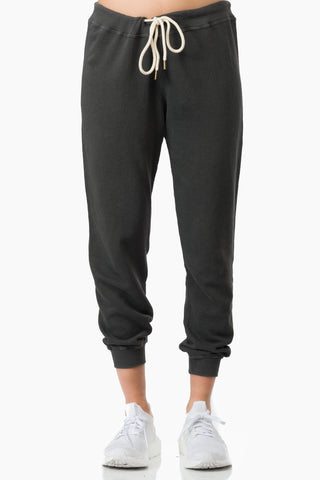 The Great The Cropped Sweatpant  washed blk