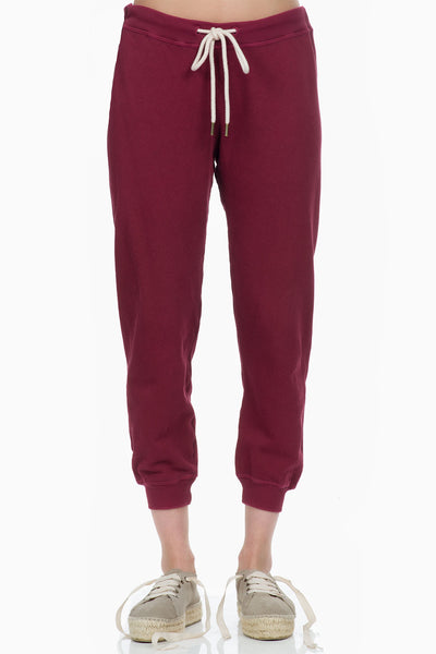 The Great The Cropped Sweatpant zinfandel