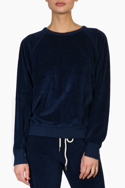 The Great The Velour Cropped Sweatshirt