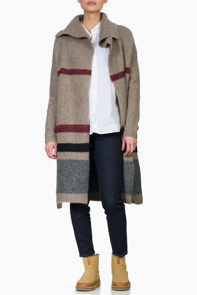 James Perse Belted Stripe Coat