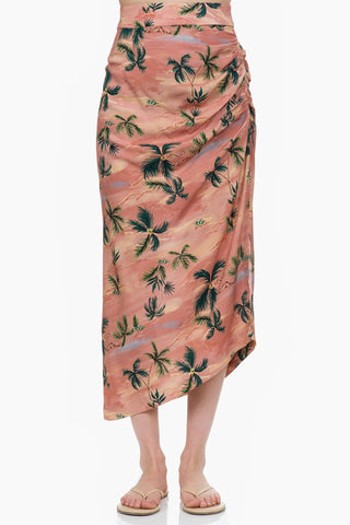 SMYTHE Asymmetrical Skirt hawaiian