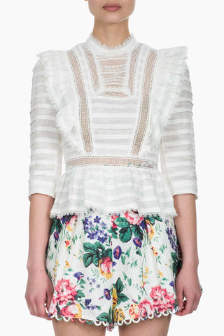 Zimmermann Allia Pintuck High Neck Top