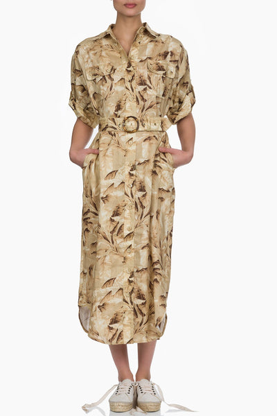 Zimmermann Super Eight Safari Midi Dress TPALM