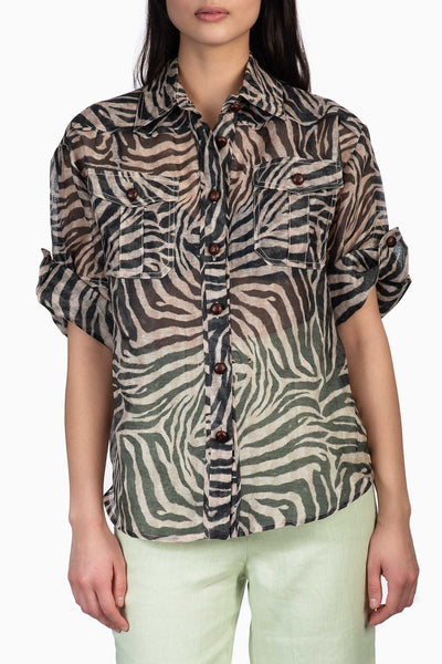 Zimmermann Corsage Safari Shirt