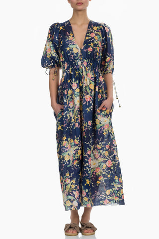 Zimmermann Zinnia Shirred Waist Dress