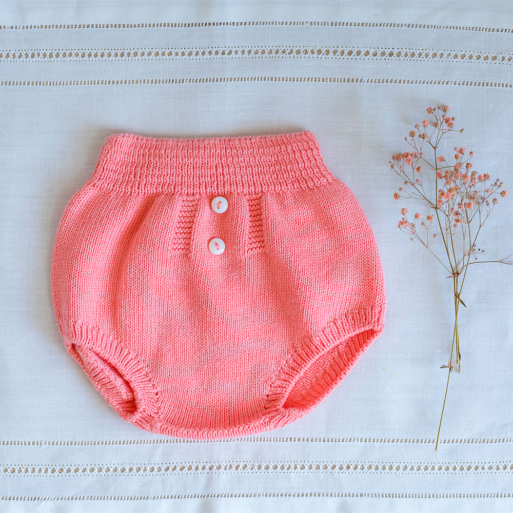 Coral Knitted Bloomer