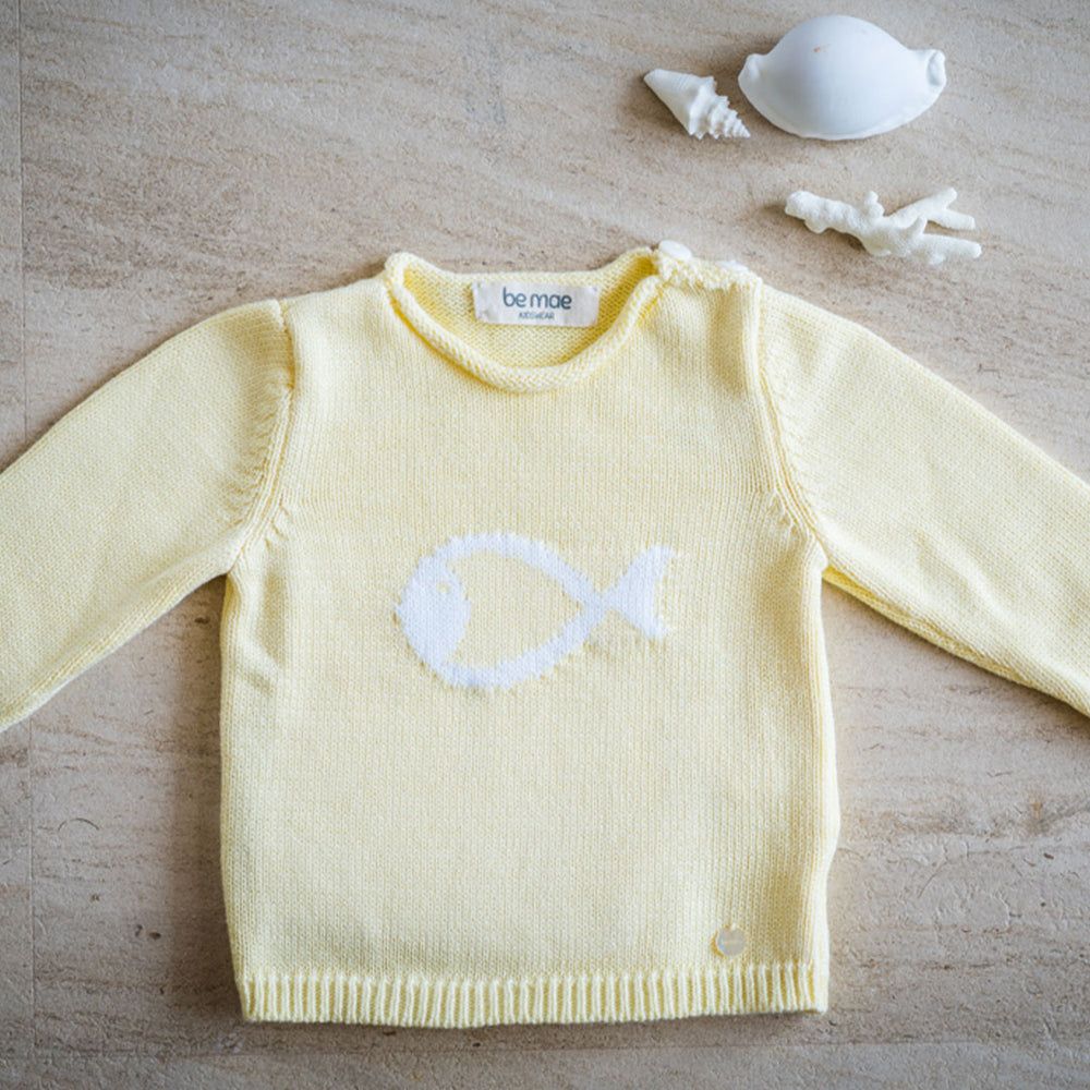 Yellow Fish Pullover
