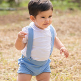 Bendinat Romper with Suspenders