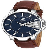 Espoir Analogue Leather Strap Day and Date