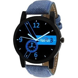 PaisaWapas Radius Round Analog Blue Leather Men's Quartz Watch