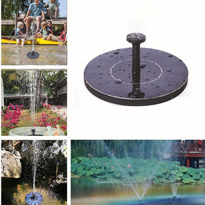 Solar Powered Floating Fountain