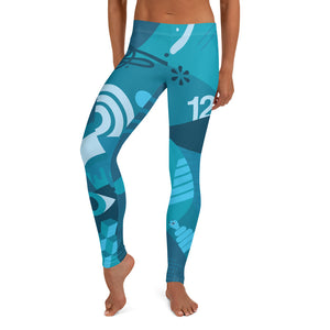 Blue Freestyle Leggings