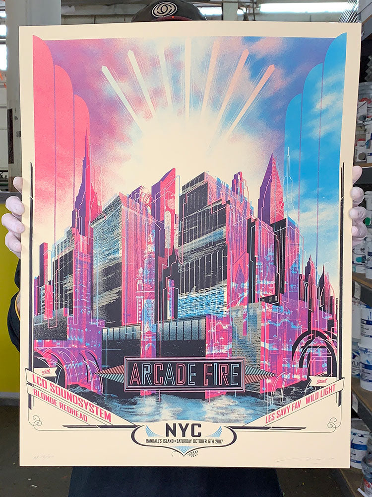 Arcade Fire: NYC 2007 Artist Proof (RAER)