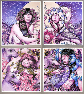 John Baizley: Baroness / Purple quadrant set (Printer's Proofs)