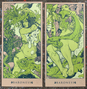 John Baizley: Baroness - Blue Record GREEN edition Printer's Proofs #6/10 (RAER)