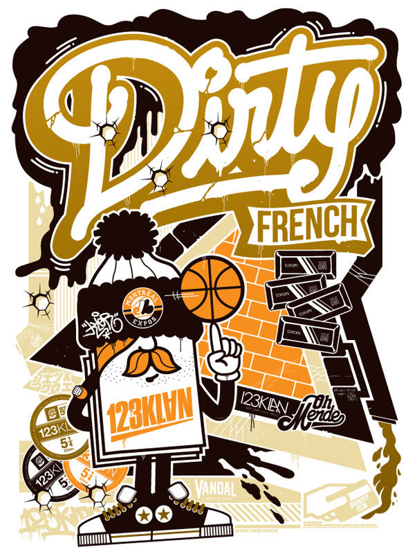 123Klan Dirty French print