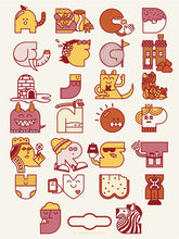 Alphabet Print - 7th edition - Red & Pink Colorway
