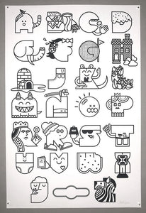 Color Your Own Alphabet Print