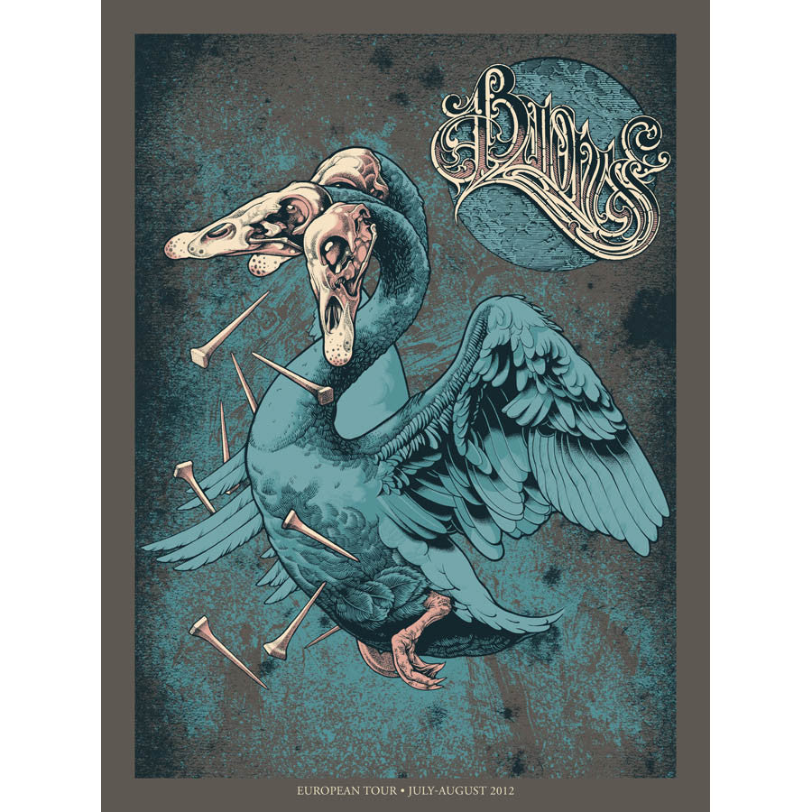 Baroness Europe Tour poster: Burlesque edition