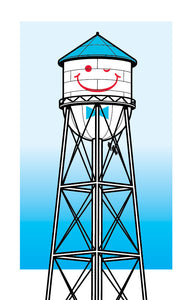 Smiley Watertower print
