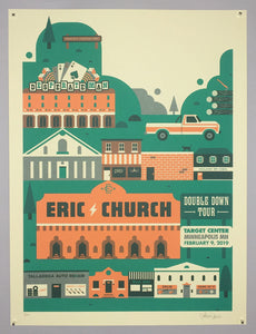 Eric Church: Double Down Tour poster Night 2