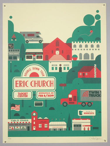 Eric Church: Double Down Tour poster Night 1