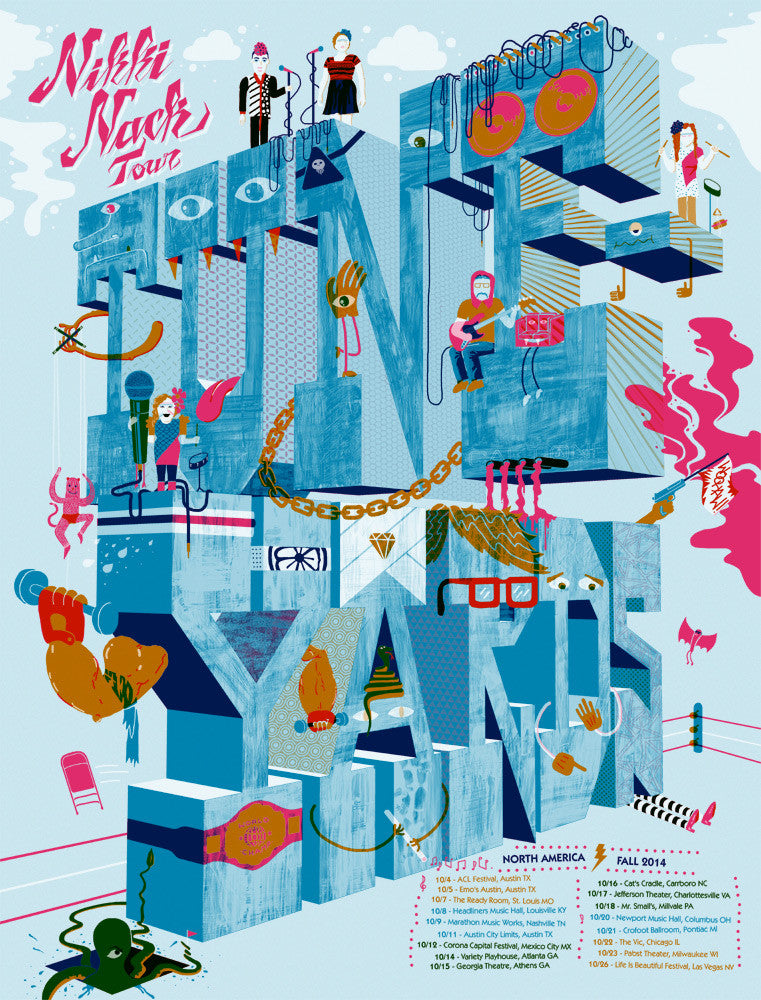 Tune-Yards Nikki Nack Fall 2014 Tour Print