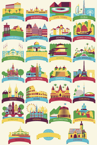 World Travel Alphabet Print