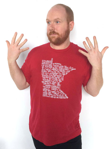 Minnesota Pride shirt: Cardinal Red edition
