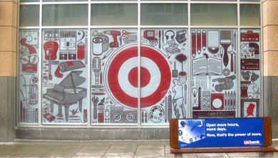 Target HQ window display