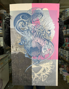 Test Print: Aaron Horkey Grails / John Bannon / Daniel Danger