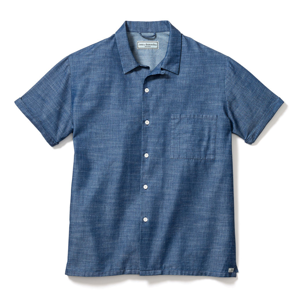 COOK SHIRT, BLUE CHAMBRAY
