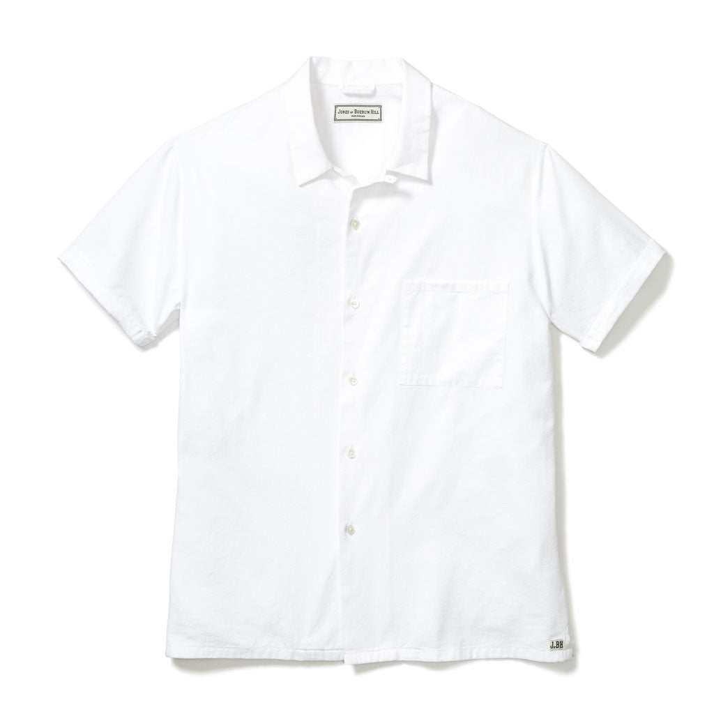 COOK SHIRT, WHITE OXFORD COTTON