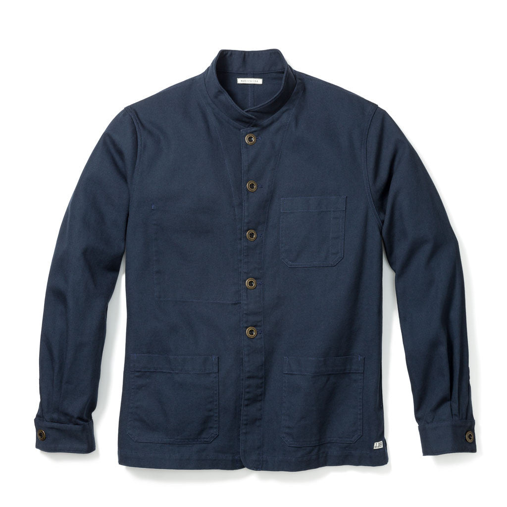 WORK JACKET, NAVY ORGANIC CANVAS