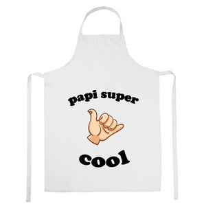 Tablier de cuisine Papi super cool blanc