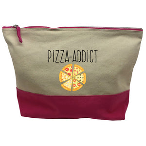 pochette rose motif Pizza Addict