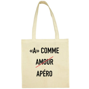 Tote Bag A comme amour jaune
