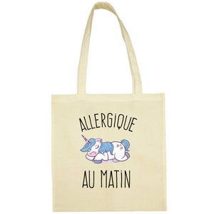 Tote Bag Allergique au matin jaune