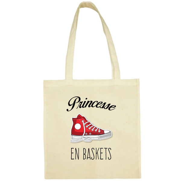 Tote Bag Princesse en baskets jaune