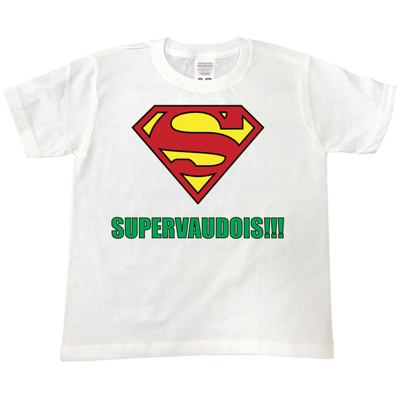 T Shirt enfant SUPERVAUDOIS 2 blanc