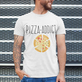 T Shirt Homme Pizza Addict blanc