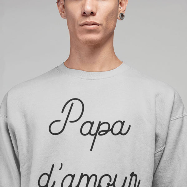 Sweat Homme Papa d'amour gris