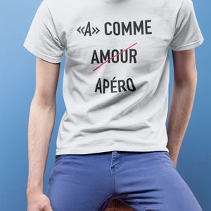 T Shirt Homme A comme amour blanc