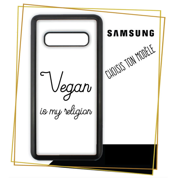Coque Samsung Vegan is my religion