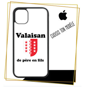 Coque iPhone Valaisan de pere en fils 2