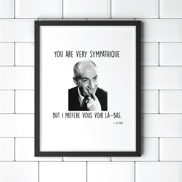 Poster You are very sympatique