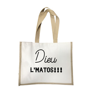 Grand sac Dieu l'matos écru