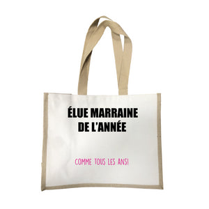 Grand sac Elue marraine de l'annee écru